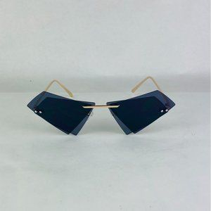 COPY - black lens diamond shape sunglasses